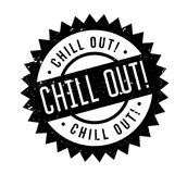 Chill Out rubber stamp Stock Photo
