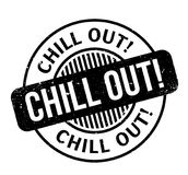 Chill Out rubber stamp Royalty Free Stock Photos