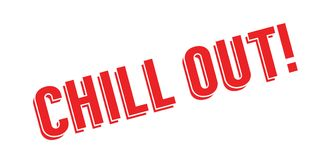 Chill Out rubber stamp Stock Images