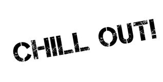 Chill Out rubber stamp Royalty Free Stock Image