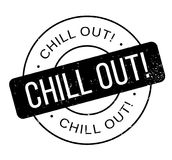 Chill Out rubber stamp Stock Photography