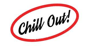 Chill Out rubber stamp Stock Photos