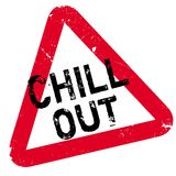 Chill Out rubber stamp Royalty Free Stock Photography