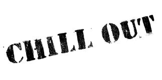 Chill Out rubber stamp Royalty Free Stock Images