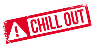 Chill Out rubber stamp Stock Image