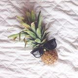 Chill pineapple Royalty Free Stock Image