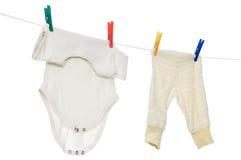 Chilld infant linen on Stock Image