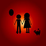 Chilldren hand in hand Royalty Free Stock Image