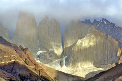 chille del paine torres 免版税库存照片