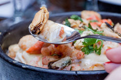 Chillean Food. Traditional seafood dish from Chile Stock Photo