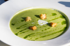Chilled asparagus soup Stock Photo