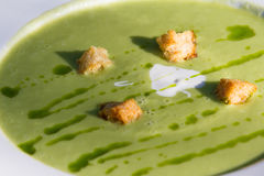 Chilled asparagus soup Royalty Free Stock Images