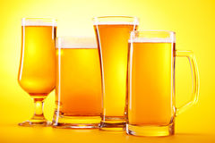 Chilled beer Stock Images