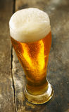 Chilled beer with a frothy head Stock Images