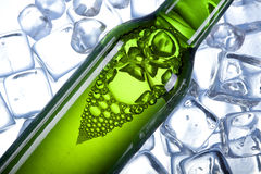 Chilled beer in ice! Royalty Free Stock Image