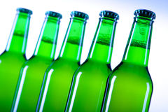 Chilled beer on white background Royalty Free Stock Photos
