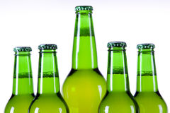 Chilled beer on white background Royalty Free Stock Photo