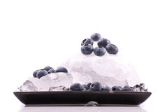 Chilled Blueberry Snack Stock Images