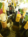 Chilled buckets of wine Royalty Free Stock Photo