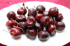 Chilled Cherries Stock Photography