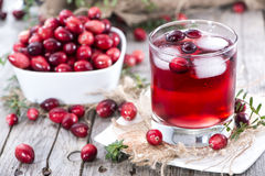 Chilled Cranberry Juice Royalty Free Stock Images