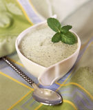 Chilled cream of cucumber soup Royalty Free Stock Photos