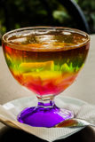 Chilled jelly colorful assortment of summer berries. Beautiful dessert. Stock Photo