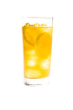 Chilled lemon ice tea over white Stock Image