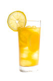 Chilled lemon ice tea over white Royalty Free Stock Photography