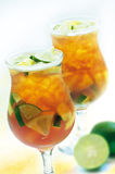 Chilled Lime Drink. Cold Lime drink in wine cup Royalty Free Stock Image
