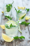Chilled mint lemonade Stock Photo