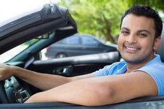 Chilled out guy cruising in car Royalty Free Stock Images