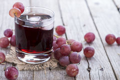 Chilled Red Grape Juice Stock Photo