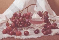 Chilled Red Grape Juice Stock Photography