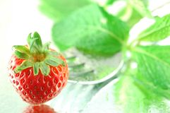 Chilled Strawberry Royalty Free Stock Images