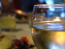 Chilled Wine. Close up of a glass of chilled wine stock photos