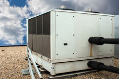 Chiller. A front side view, of a rooftop chiller Royalty Free Stock Photos