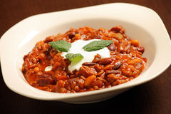 Chilli beans soup Royalty Free Stock Images
