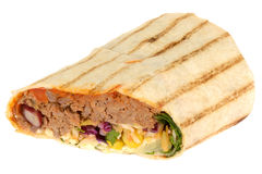 Chilli Beef and Cheese Wrap Royalty Free Stock Photos