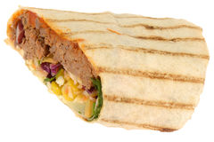 Chilli Beef and Cheese Wrap Royalty Free Stock Image