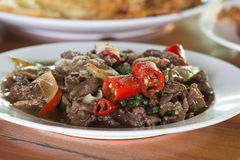 Chilli beef Royalty Free Stock Photo
