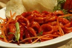 Chilli Calamari - A goan squid preparation Stock Images