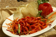 Chilli Calamari - A goan squid preparation Royalty Free Stock Images
