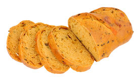 Chilli And Cheese Bloomer Bread Loaf. Chilli and cheese flavoured crusty bloomer loaf Stock Photos