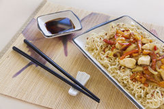 Chilli Chicken Stir Fry Stock Photography