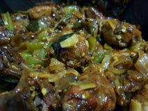 Chilli chicken stock image