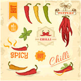 Chilli, chili, pepper vegetables, product royalty free illustration