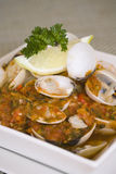 Chilli clams Stock Images