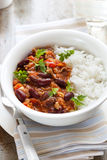 Chilli Con Carne with Rice Royalty Free Stock Photography
