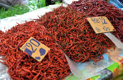 Chilli dried Market Stock Images